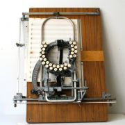Ever wonder how they used to type up sheet music? The musical typewriter!
