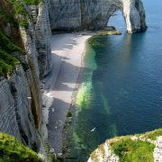 Etretat - a town and commune in France, in the region of Upper Normandy