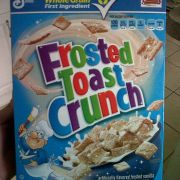 I told my mom to buy Frosted Flakes or Cinnamon Toast Crunch. This is what she comes home with.