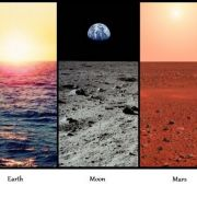View from 5 different locations across out solar system