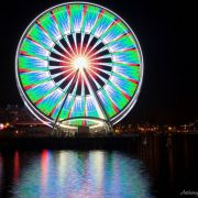 Cool long exposure shot of a ferris wheel