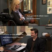 Yet again, Ron Swanson wins at life