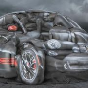 Fiat 500 Abarth - Body-Painted Women Look Like Car