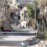 Heavily damaged Syria's eastern town of Deir Ezzor, Aug 26, 2013.