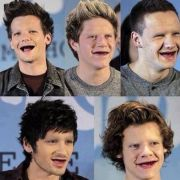 What if one direction didn't have teeth or eyebrows..