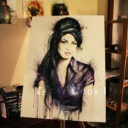Painted Amy Winehouse. My biggest painting to date