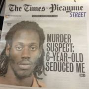 Front page news in New Orleans