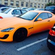 Matte orange Maserati Grancabrio spotted on Penn State UP campus.