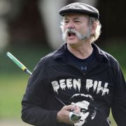 Bill Murray wearing a shirt of Bill Murray.