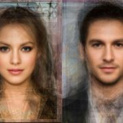 The end results from overlaying photos of attractive celebrities