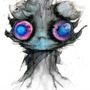 Espurr - I painted her with Watercolours, Ink, Spit & Blood.