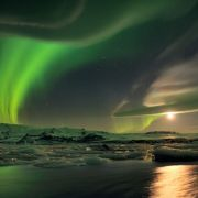 Unreal northern lights in Iceland. Photograph by Stephane Vetter.
