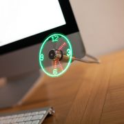 USB fan clock.