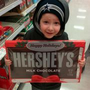 Told him he could get a candy bar...