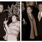 Dick Van Dyke & Julie Andrews: The Mary Poppins premiere 50 years ago vs. 3 days ago at Mr. Banks premiere