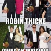Theres a reason Robin Thicke has his arms like a Ken doll...