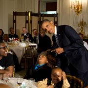President Obama caught a kid sleeping