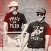 Hunter S. Thompson and Bill Murray, wearing awesome shirts. Too cool.