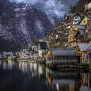 Cozy little village of Hallstatt, Austria