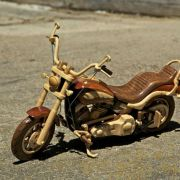 My uncle can make awesome things out of wood. This is the model motorcycle he made for his brother.