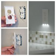 This outlet cover is also a nightlight. Genius.