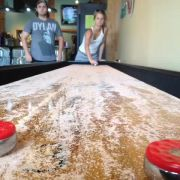 A lucky vine I captured while playing shuffleboard. Their reactions crack me up.
