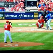 Homer Bailey leaves start after awkward delivery.