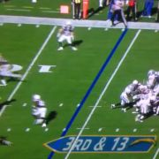 big hit on Chargers Danny Woodhead