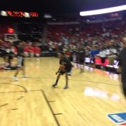 Ben McLemore putting on a show pre-game