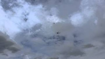 Manchester plane escorted by jet