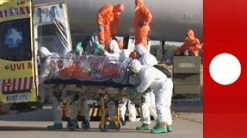 Video: First Ebola victim arrives in Spain under tight security
