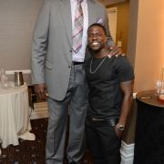Shaquille O'Neal with Kevin Hart (Height Comparison)