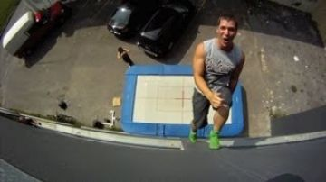 New Extreme Sport: Trampoline Wall. Christophe Hamel Demo 2012
