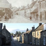 My street in the year 1900 vs. my street today.