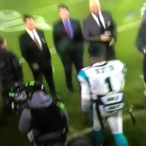Cam Newton does the Obama Meet & Greet