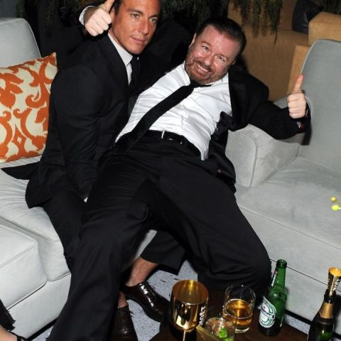 Ricky Gervais got considerably drunk at the Golden Globes afterparty...