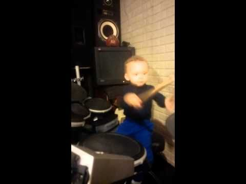 2year old plays the pretender by Foo Fighters