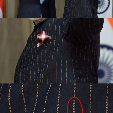 Prime Minister Modi Wore A Suit With His Own Name Printed On It Thousands Of Times