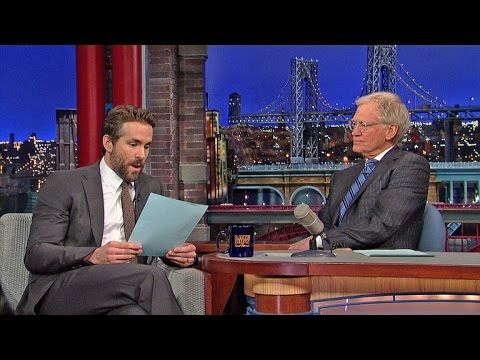 What Did Ryan Reynolds Name His Baby? - David Letterman