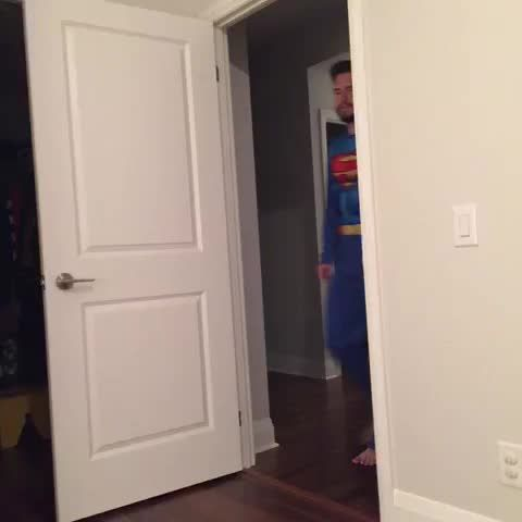 My son loves Superman, so I made him this Vine