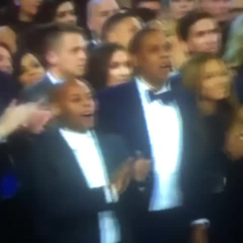Jay and Bey's reactions to Kanye nearly interrupting Beck