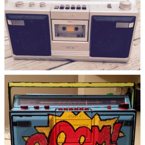 I painted my boombox.