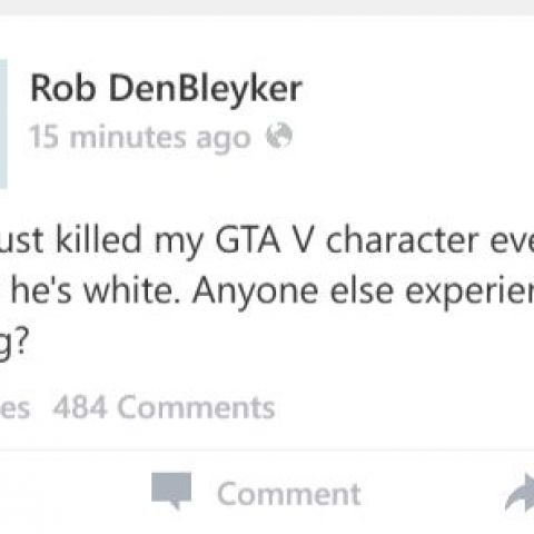 Rob DenBleyker is the only person I ever want to see statuses from