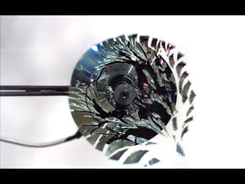 CD Shattering at 170,000FPS! - The Slow Mo Guys