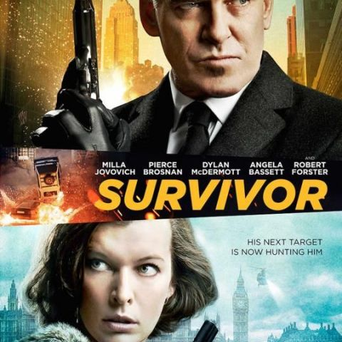 New poster for the upcoming action thriller SURVIVOR, starring Pierce Brosnan and Milla Jovovich