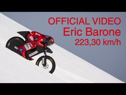 (OFFICIAL) Eric Barone - 223,30 km/h - World mountain bike speed record - Vars Speed Challenge 2015