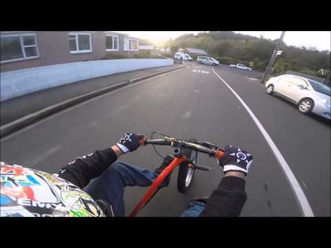 Drift trike-steepest street in the world