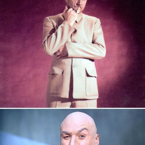 Despite being the visual inspiration for Dr. Evil, Blofeld (played by Donald Pleasance) never does the pinky gesture in