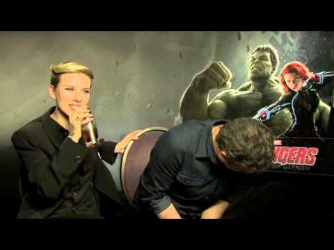 COSMOPOLITAN.CO.UK flip sexist questions on The Avengers Scarlett Johansson and Mark Ruffalo