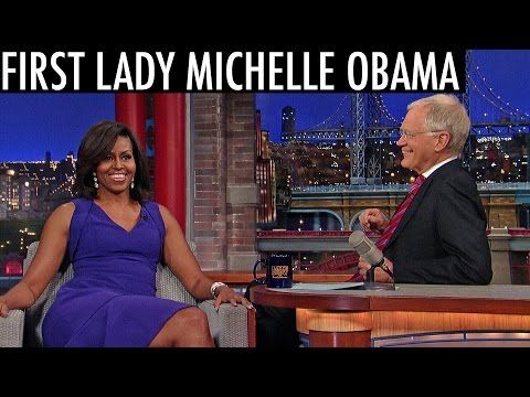 First Lady Michelle Obama's Post-White House Plans - David Letterman